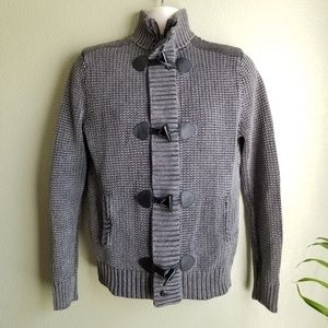 Express full zip toggle sweater